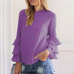 - ❤️ - - Fall Trend Tiered arm blouse top